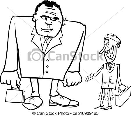 Small clipart thin And Clip businessmen big and
