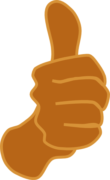 Brown clipart thumbs up  Clip Clker vector clip