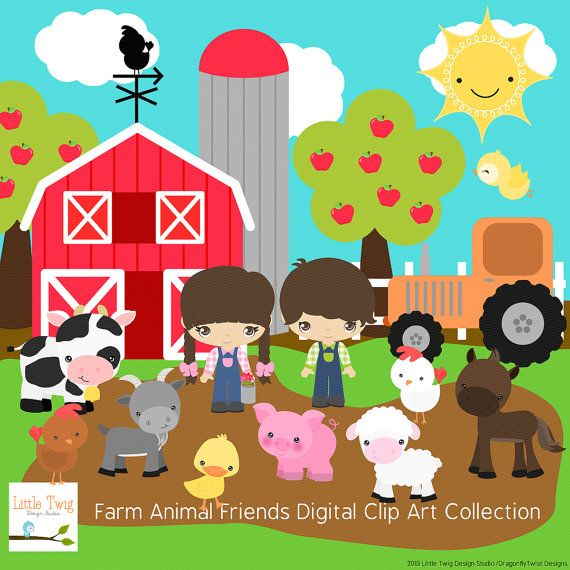 Amd clipart farm animal $6 Digital clip Dragonflytwist about