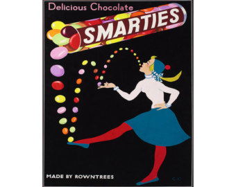 Smarties clipart british Chocolate Advertising Metal Enamel TIN