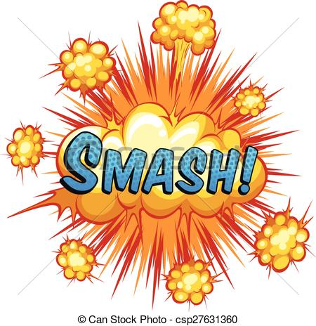 Smash clipart Cloud background Smash Art smash