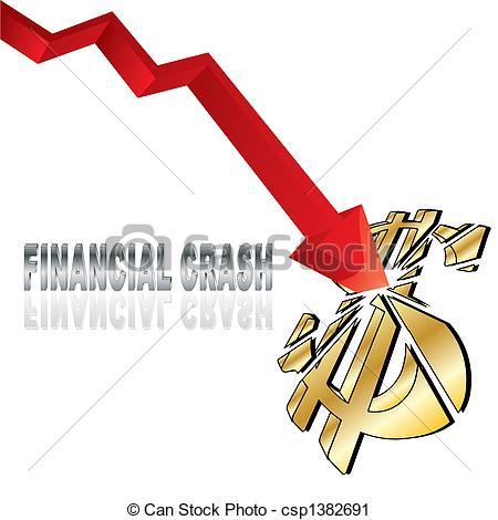 Crash clipart icon  csp1382691 Financial of Clip