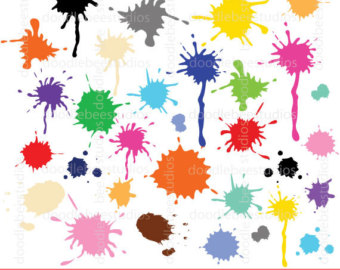 Painting clipart paint splatter Clipart Ink Paint Blots Etsy