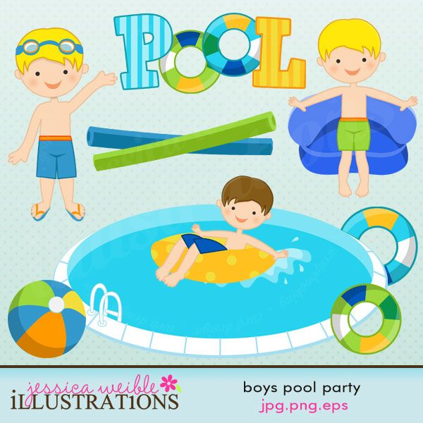 Blue Water clipart pool party Party cliparts 11 about Pinterest