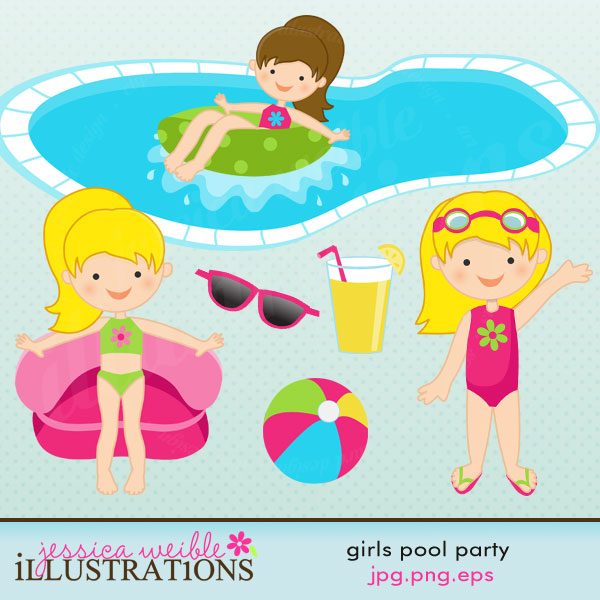 Background clipart pool party With including: clipart tube in