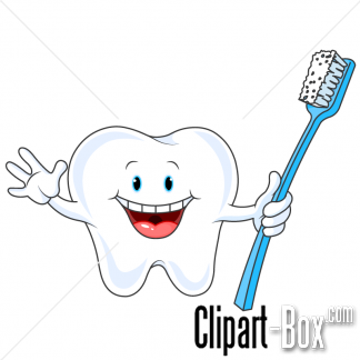 Toothbrush clipart single tooth #1