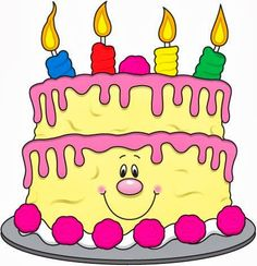 Yellow clipart birthday cake Birthday baloons birthday clipart cake