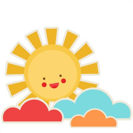 Adorable clipart sun Silhouette cute scrapbook cute free