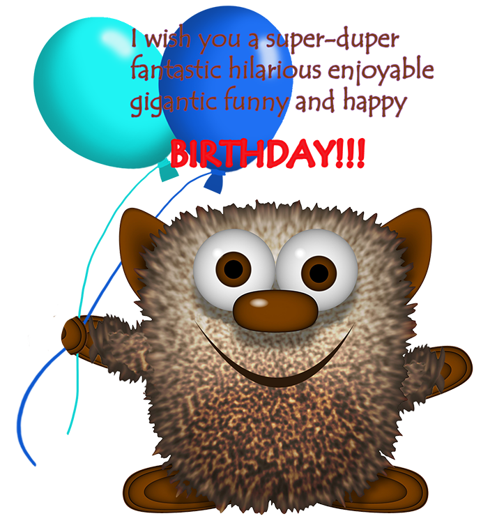 Birthday clipart funny Greeting monster and clipart monster
