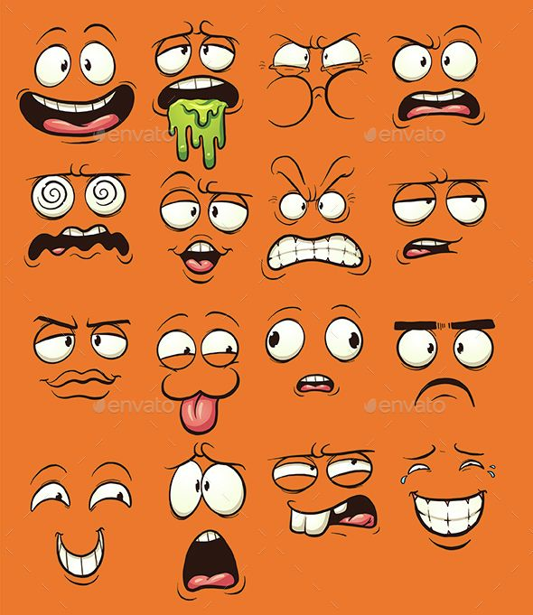 Expression clipart Faces The on cartoon 25+
