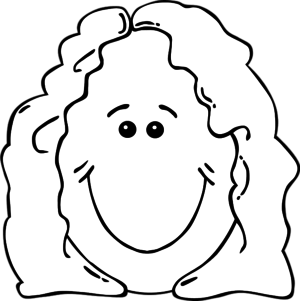 Smile clipart mother face (55+) Face art Smiling Girl