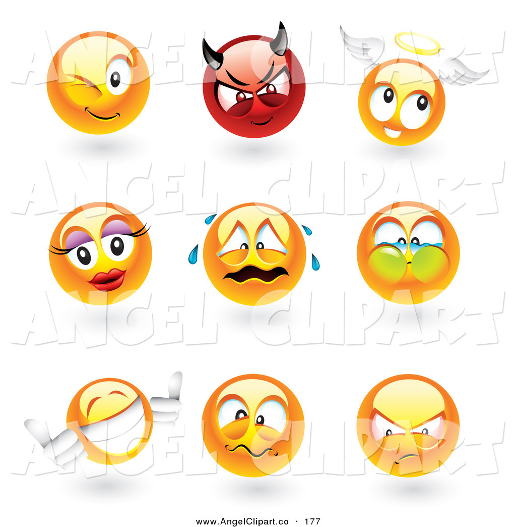 Smiley clipart angel Smiley Face Stock  Angel