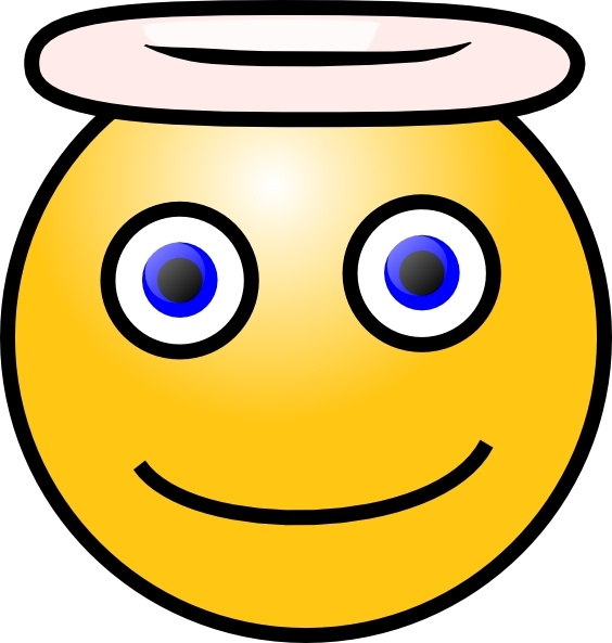 Smiley clipart angel Drawing art  Smiley Angel