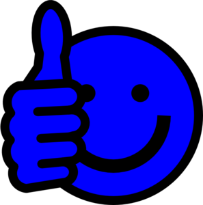 Smileys clipart blue Smiley blue thumbs 135 smiley