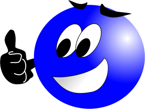 Smileys clipart blue Up Free Face Images Clipart