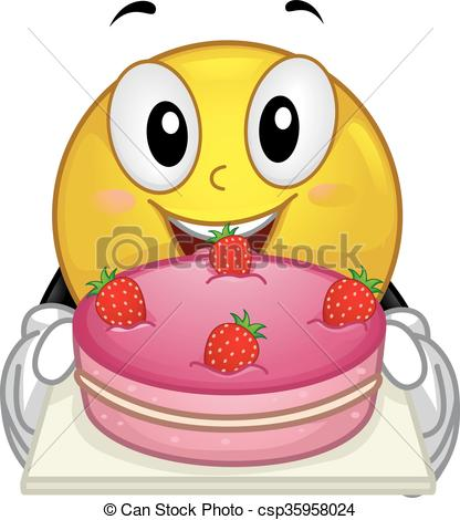 Smiley clipart cake Illustration Illustration of Smiley Smiley