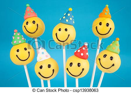 Smiley clipart cake Face cakes  cake pops