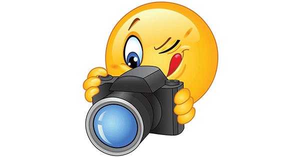 Smileys clipart camera Smiley Photographer Symbols Emoticons &