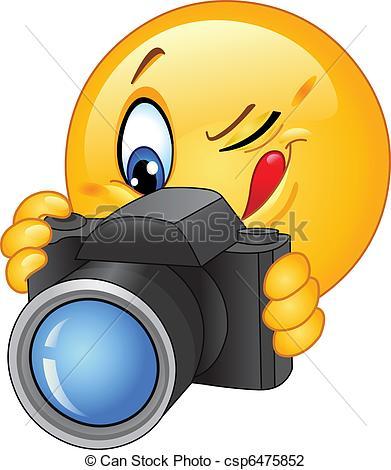 Smileys clipart camera Csp6475852 photo a  Emoticon