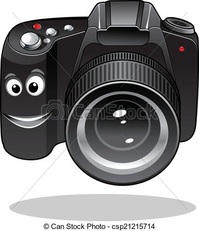 Smileys clipart camera DSLR or Cute of cartoon