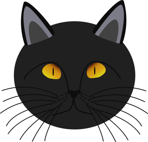 Black Cat clipart cat face Images Free Cat Clipart Face
