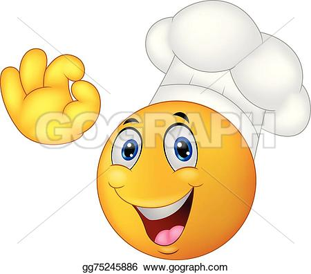 Smiley clipart chef Chef cartoon Illustration Vector