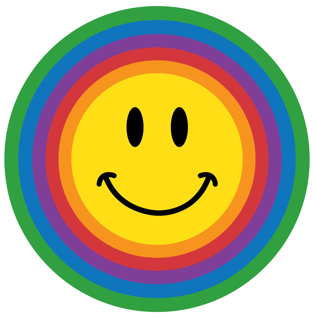 Smiley clipart cartoon Blue rainbow face circle smiley