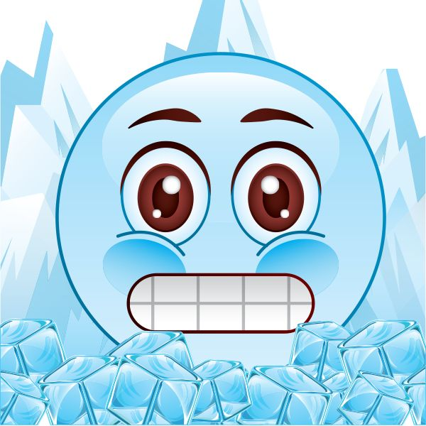 Smiley clipart cold Cold Icy on blue images