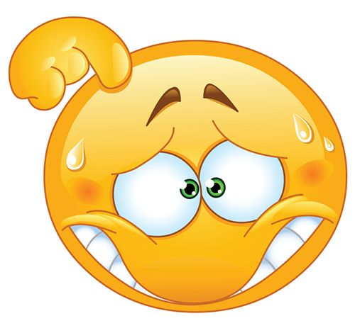 Smiley clipart confused Smileys Confused smileys emoticon embarrassed