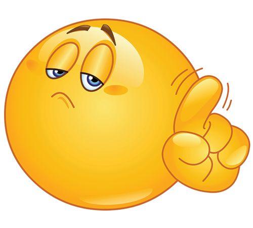 Smileys clipart confused face Finger on Emoji images 1036