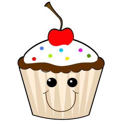 Smiley clipart cupcake With Happy Cupcake Birthday Happy