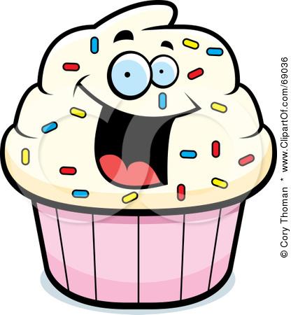Vanilla Cupcake clipart happy birthday Clipart Free clipart Free cupcake