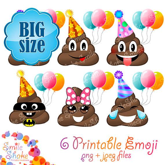 Smiley clipart cupcake Poop Emoji Faces Digital Scrapbook