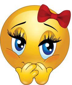 Chick clipart emoticon Smiley Cute Emoticon Smiley Girl