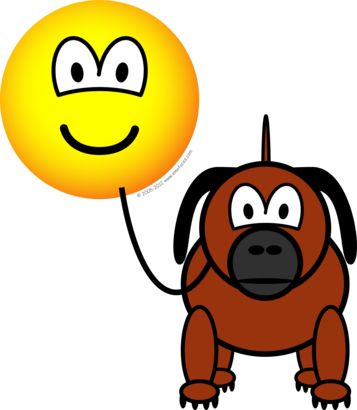 Smiley clipart dog Free Emoticon animated dogs emotioncons