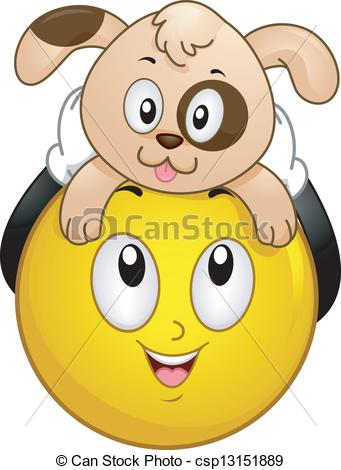 Smiley clipart dog Smiley Dog Smiley Pet Dog