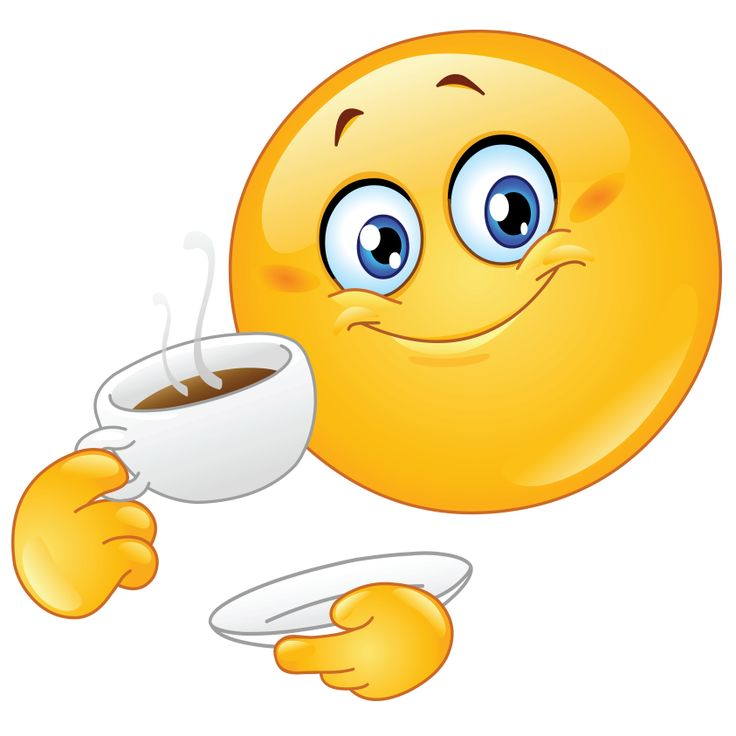 Smiley clipart drinking water And images Coffee drinking 122