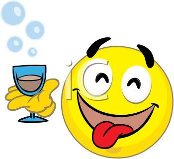 Smiley clipart drinking water 20KB Free water collection free