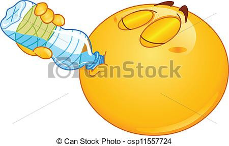 Smiley clipart drinking water Of water drinking Drinking Illustration