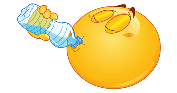 Smileys clipart drinking water Drinking Water & Emoticons