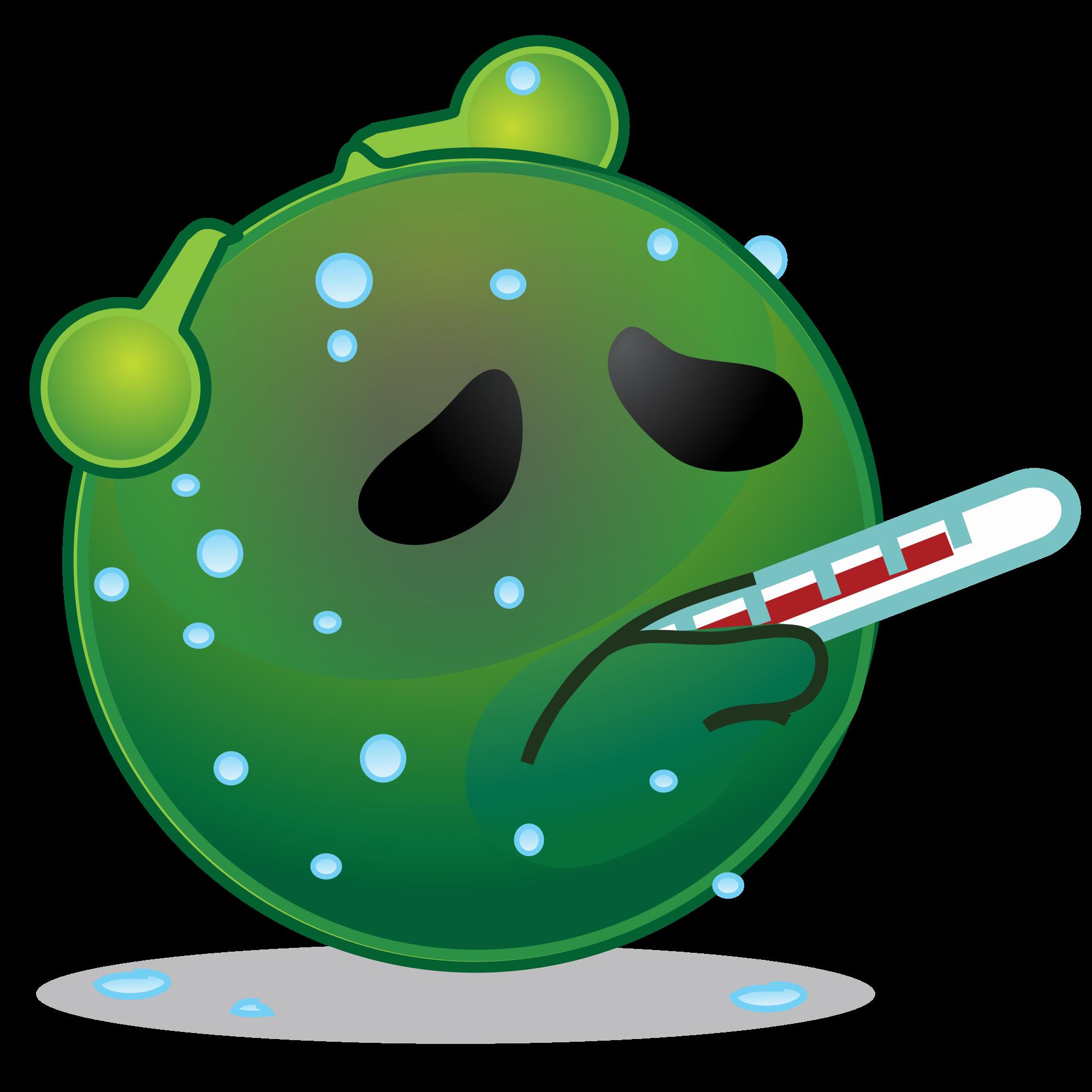 Smiley clipart fever Green fever Wikimedia hot alien