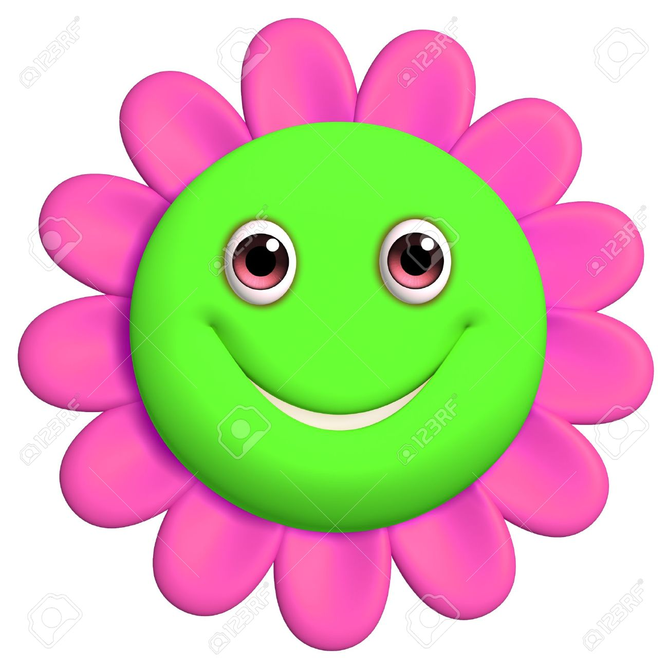 Smiley clipart flower Flower Smiley Face Face Clipartion