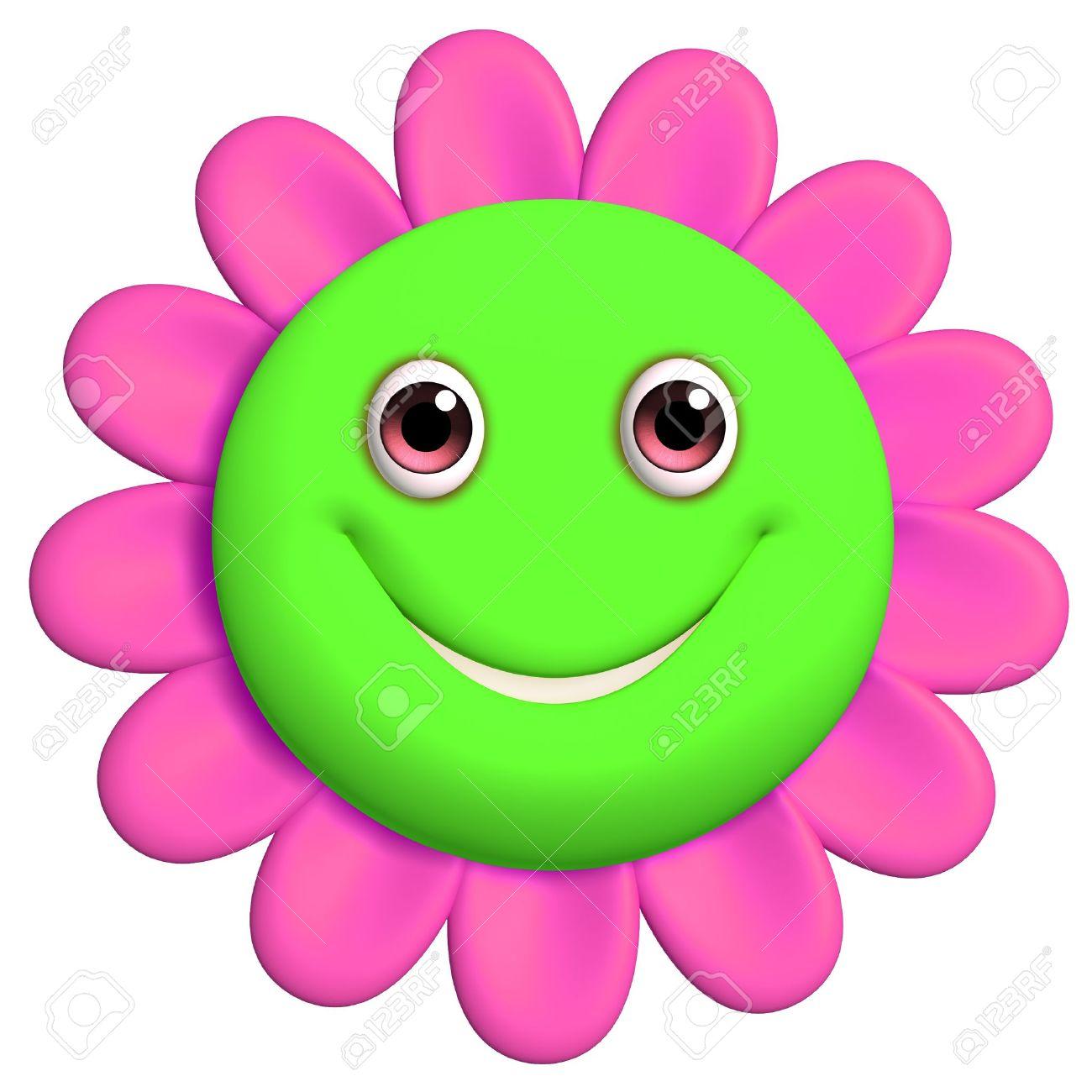 Smiley clipart flower Stock Best Green #23609 com