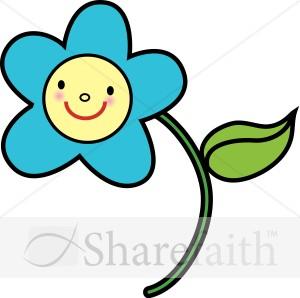 Smiley clipart flower Clipart Free Panda Flower Clipart