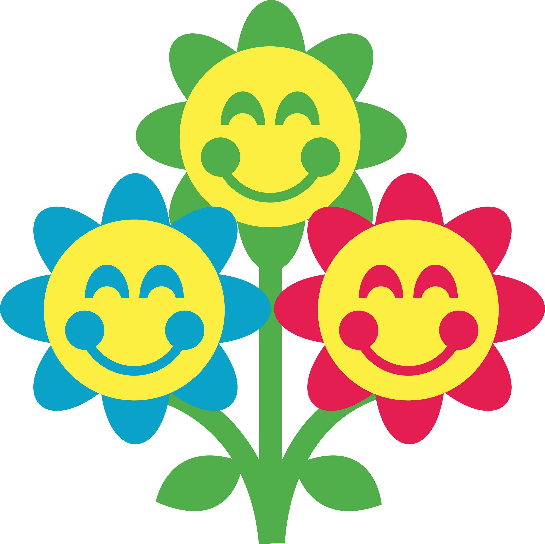 Smiley clipart flower Free Flower Art Face Art