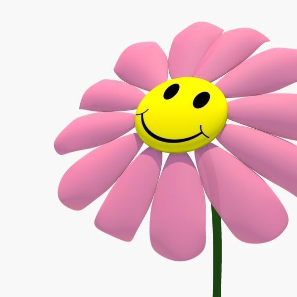 Blue Flower clipart smiley flower Illustration Clipart Free Flower Smiley