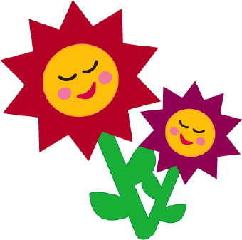 Smiley clipart flower Clipart Free Panda Flowers Clipart