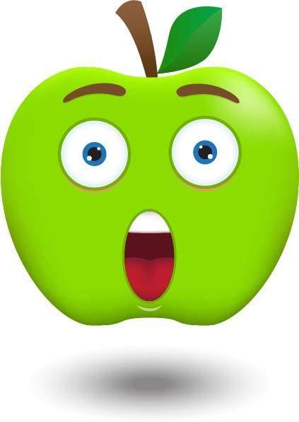 Apple clipart smiley Art 102 Фотки on Fruits