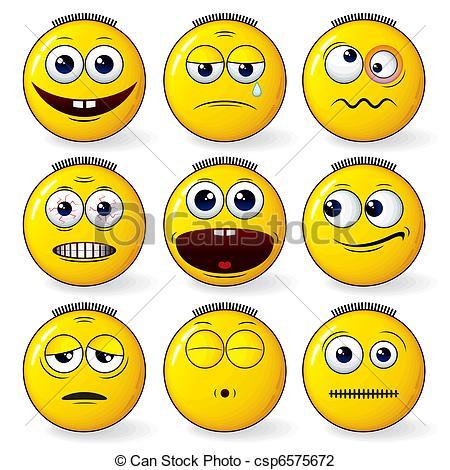 Smileys clipart fun Set csp6575672 Illustration Smileys