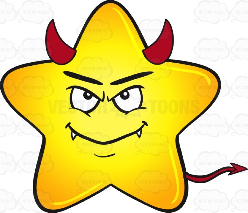 Smiley clipart gold star Smiling Horns And Emoji